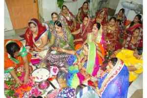 Worship of Godess Teej by Women